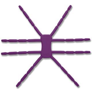 8本多関節 タブレット用マルチスタンド Breffo SpiderPodium パープル