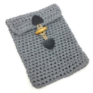 手編みで作るタブレットケース Tablet Cover Kit グレー