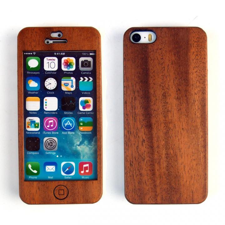 iPhone SE/5s/5 ケース 色合いが変化する iPhone SE/5s専用 天然木無垢プレート_0