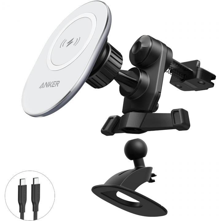 Anker PowerWave Magnetic Car Charging Mount ワイヤレス充電対応 マグネット式カーマウント_0