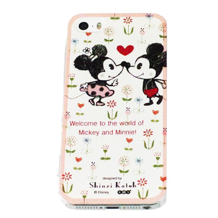iPhone SE/5s/5 shinzi katoh × ディズニーケース ミッキー キス iPhone SE/5s/5ケース_0