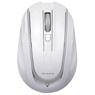アイドリングストップ機能搭載 5ボタンワイヤレスマウス WINKS ホワイト