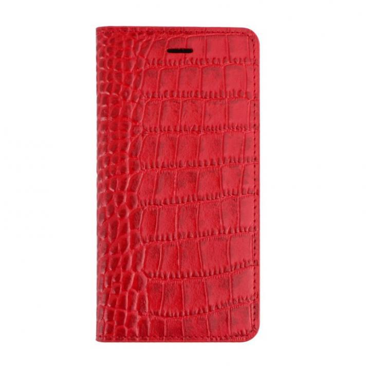 ビビッドクロコ手帳型ケース レッド iPhone 6s/6ケース