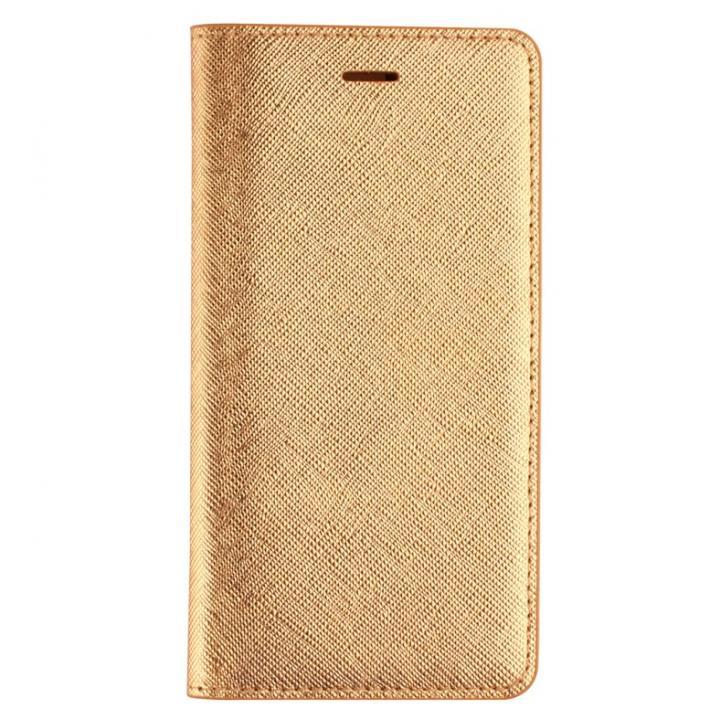 サフィアーノ 手帳型ケース  ゴールド iPhone 6ケース