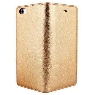【iPhone6ケース】サフィアーノ 手帳型ケース  ゴールド iPhone 6ケース_1