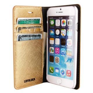 【iPhone6ケース】サフィアーノ 手帳型ケース  ゴールド iPhone 6ケース_2