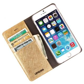 【iPhone6ケース】サフィアーノ 手帳型ケース  ゴールド iPhone 6ケース_3