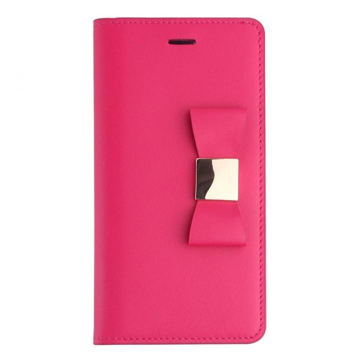 【iPhone6s/6ケース】リボンクラシック 手帳型ケース  ホットピンク iPhone 6s/6ケース_0