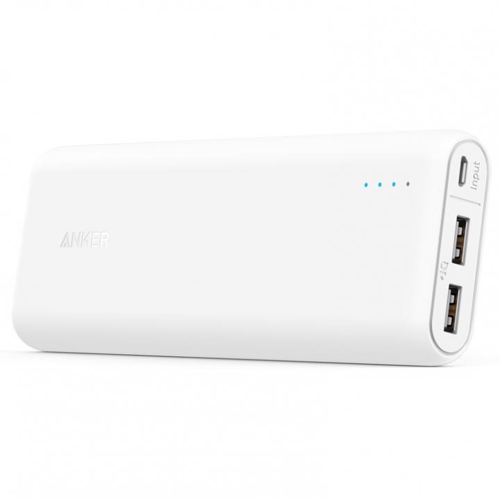 [20100mAh]Anker PowerCore 2ポート4.8A出力 モバイルバッテリー ホワイト【8月中旬】_0