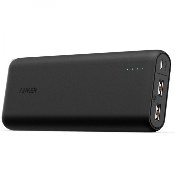 [20100mAh]Anker PowerCore 2ポート4.8A出力 モバイルバッテリー ブラック【10月下旬】