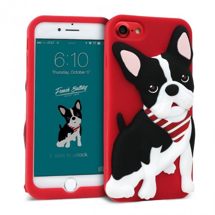 iPhone8/7/6s/6 ケース WITTY LOOK シリコンケース フレンチブルドック iPhone 8/7/6s/6_0