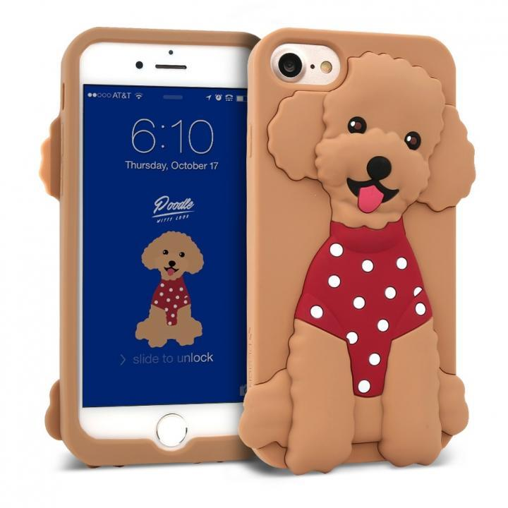 iPhone8/7/6s/6 ケース WITTY LOOK シリコンケース プードル iPhone 8/7/6s/6_0