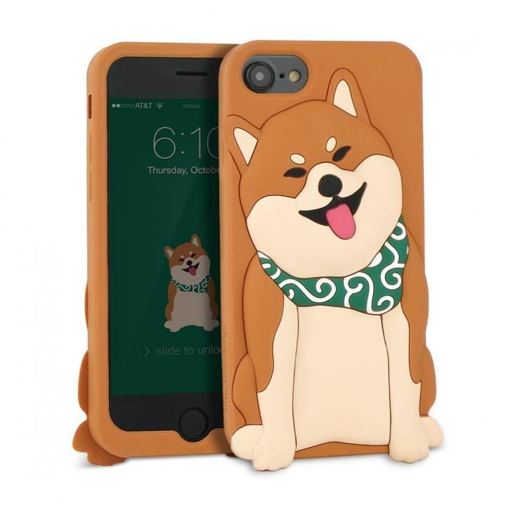 【iPhone8/7/6s/6ケース】WITTY LOOK シリコンケース シバ iPhone 8/7/6s/6_0