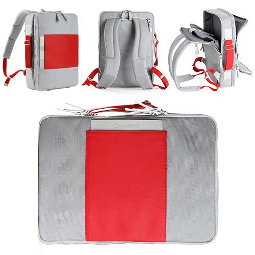 2WAY バックパック デイトリップ ライトグレー&レッド(MacBook Pro15インチまで対応)