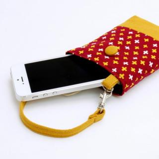 レトロ小紋 携帯ケース かすり_1