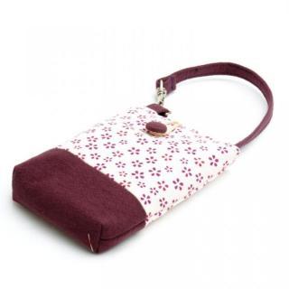 レトロ小紋 携帯ケース 桜