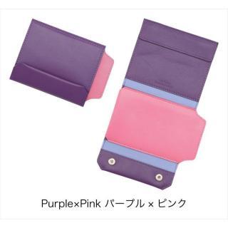 【9月中旬】iPhoneも入る財布 パープル/ピンク iPhone 5s/5ケース