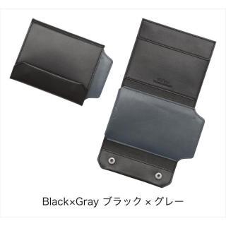 iPhoneも入る財布 ブラック/グレー iPhone 5s/5ケース