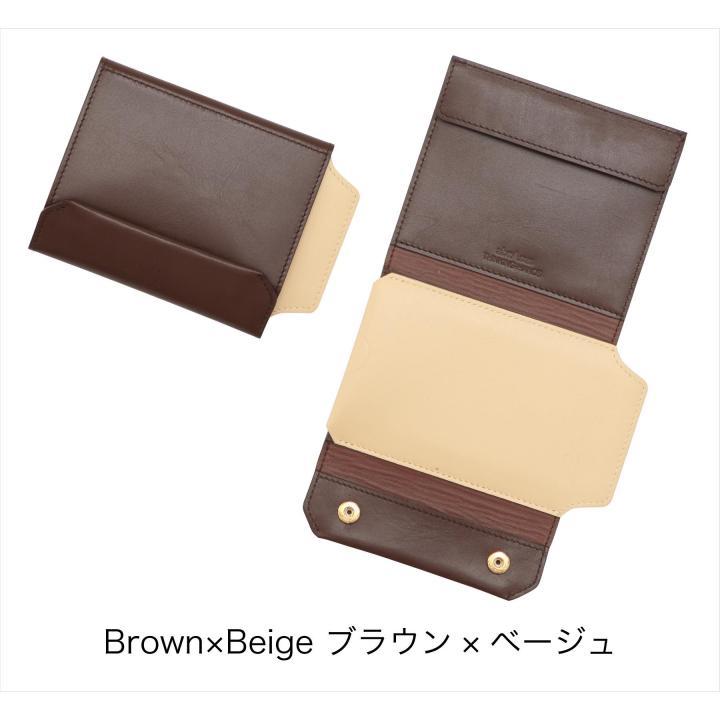 【iPhone SE/5s/5ケース】iPhoneも入る財布 ブラウン/ベージュ iPhone 5s/5ケース_0