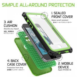 【iPhone SE/5s/5ケース】防水/防雪/防塵/耐衝撃ケース IP68準拠 Ghostek Nautical グリーン iPhone SE/5s/5_2