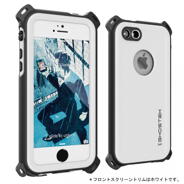 防水/防雪/防塵/耐衝撃ケース IP68準拠 Ghostek Nautical ホワイト iPhone SE/5s/5