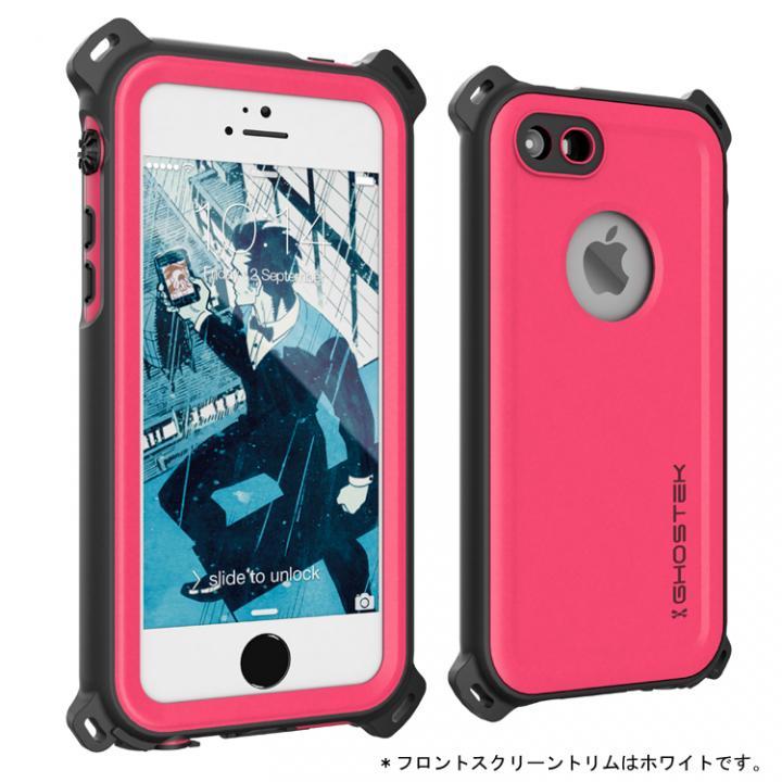 【iPhone SE/5s/5ケース】防水/防雪/防塵/耐衝撃ケース IP68準拠 Ghostek Nautical ピンク iPhone SE/5s/5_0