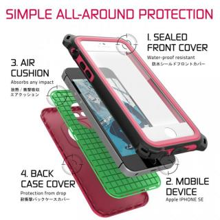 【iPhone SE/5s/5ケース】防水/防雪/防塵/耐衝撃ケース IP68準拠 Ghostek Nautical ピンク iPhone SE/5s/5_2