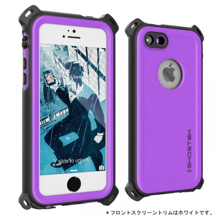 iPhone SE/5s/5 ケース 防水/防雪/防塵/耐衝撃ケース IP68準拠 Ghostek Nautical パープル iPhone SE/5s/5_0