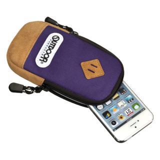 【iPhone SE/その他の/iPodケース】アウトドア スマートフォンポーチ02 パープル iPhone 4/4s/SE/5/5s/5c