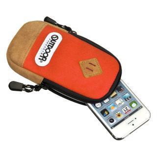 【iPhone SE/その他の/iPodケース】アウトドア スマートフォンポーチ02 オレンジ iPhone 4/4s/SE/5/5s/5c