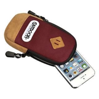 【iPhone SE/その他の/iPodケース】アウトドア スマートフォンポーチ02 バーガンディ iPhone 4/4s/SE/5/5s/5c