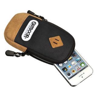 【iPhone SE/その他の/iPodケース】アウトドア スマートフォンポーチ02 ブラック iPhone 4/4s/SE/5/5s/5c
