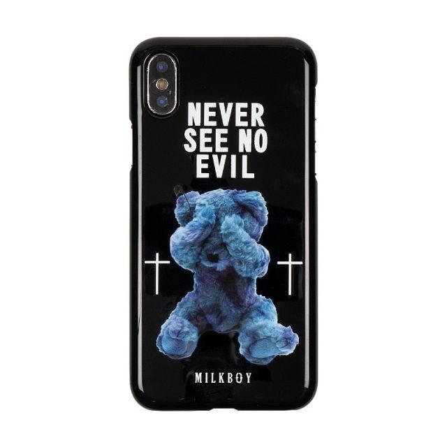 iPhone XS/X ケース MILKBOY ミルクボーイ ハードケース Gizmobies SEE NO EVILBEARS BK iPhone XS/X_0