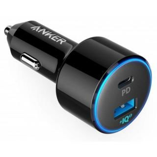 Anker PowerDrive Speed+ カーチャージャー 2-1 PD & 1 PowerIQ 2.0 ブラック