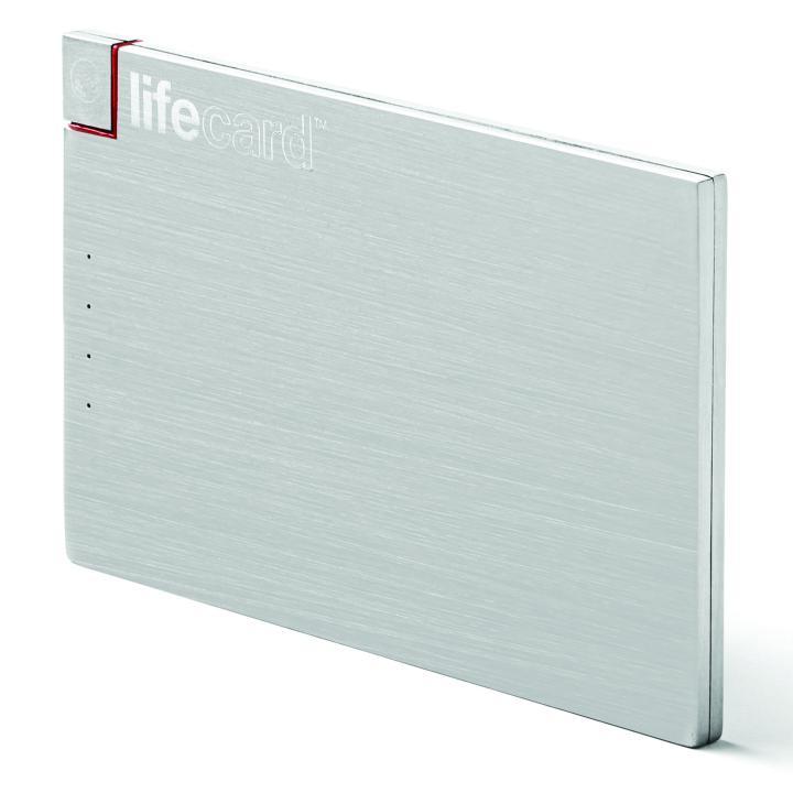 [1500mAh]世界最薄クラス ポータブルモバイルバッテリー LIFE CARD microUSB