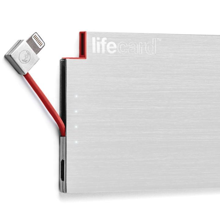 [1500mAh]世界最薄クラス ポータブルモバイルバッテリー LIFE CARD Lightning_0