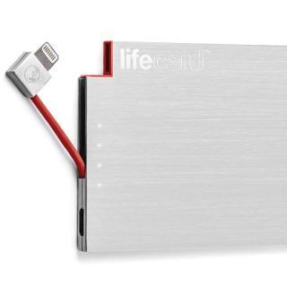 世界最薄クラス ポータブルモバイルバッテリー LIFE CARD Lightning【12月中旬】