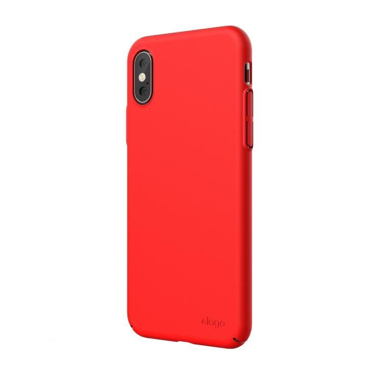 iPhone XS Max ケース elago SLIM FIT 2018 薄型軽量ケース Red iPhone XS Max_0