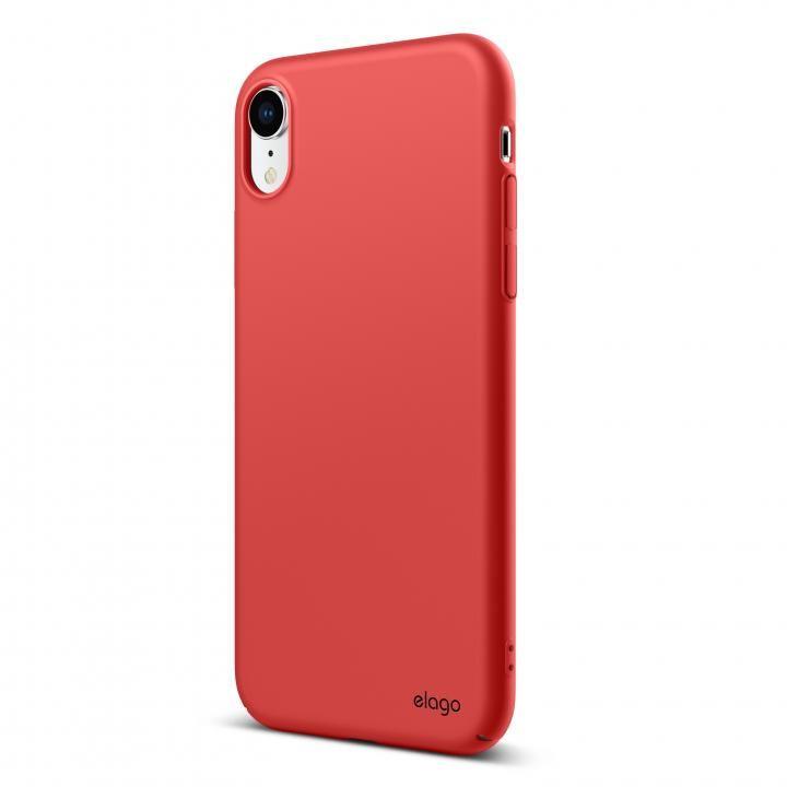 iPhone XR ケース elago SLIM FIT 2018 薄型軽量ケース Red iPhone XR_0