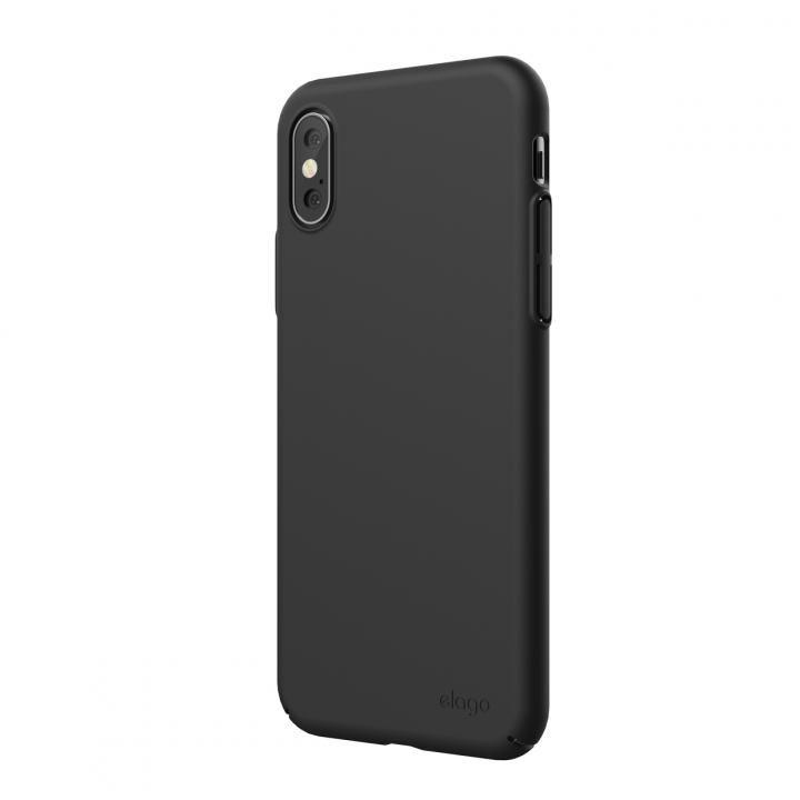 iPhone XS Max ケース elago SLIM FIT 2018 薄型軽量ケース Black iPhone XS Max_0