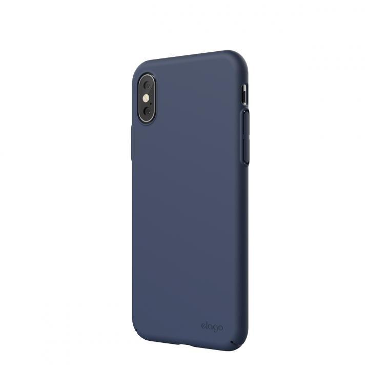 iPhone XS/X ケース elago SLIM FIT 2018 薄型軽量ケース Jean Indigo iPhone XS/X_0
