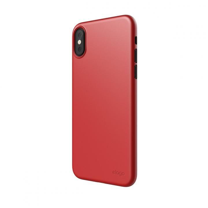 【iPhone XSケース】elago INNER CORE 2018 超薄型ケース Red iPhone XS_0