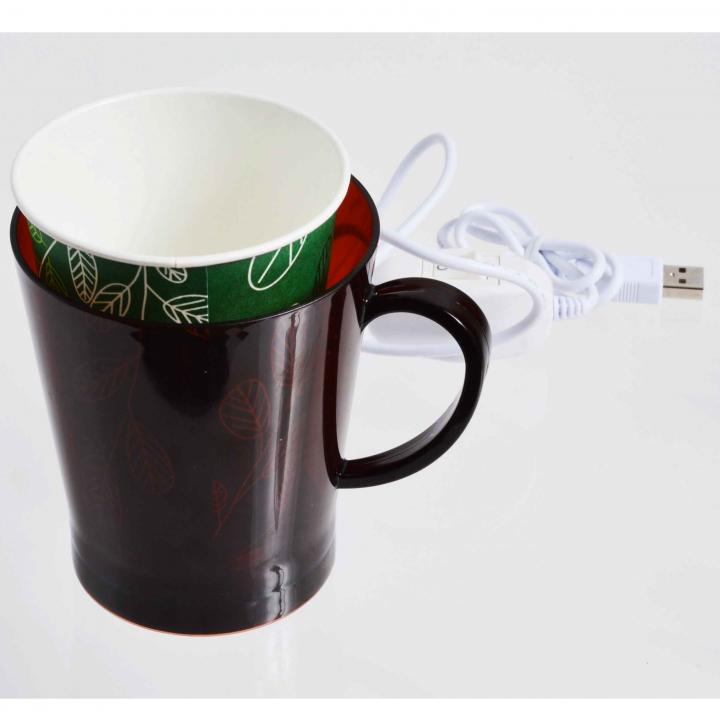 コンビニコーヒー対応 USBあったか紙コップウォーマー