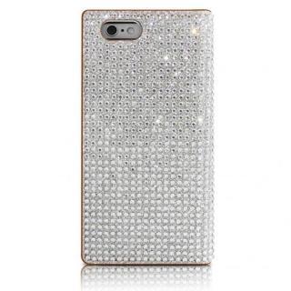 【iPhone6sケース】クリスタルラインストーン 黒牛革手帳型ケース Persian-bay ブラウン iPhone 6s/6_2