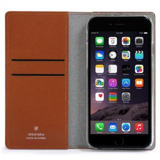 【iPhone6sケース】クリスタルラインストーン 黒牛革手帳型ケース Persian-bay ブラウン iPhone 6s/6_3