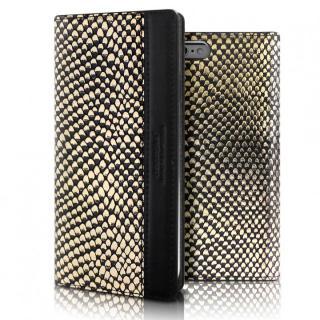 iPhone6s ケース ラメ加工ヘビ柄手帳型ケース Ashley Jacket Diary ゴールド iPhone 6s/6