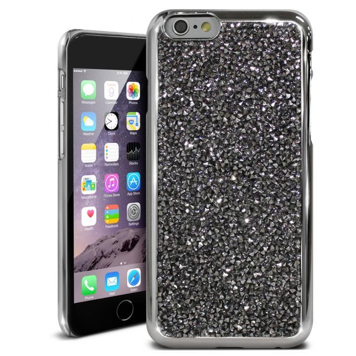 iPhone6s ケース ラインストーンハードケース ELLISIA ブラック iPhone 6s/6_0