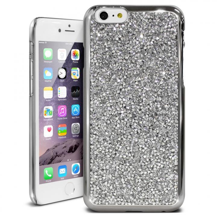 iPhone6s ケース ラインストーンハードケース ELLISIA シルバー iPhone 6s/6_0