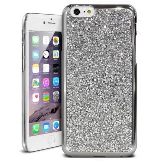 iPhone6s ケース ラインストーンハードケース ELLISIA シルバー iPhone 6s/6