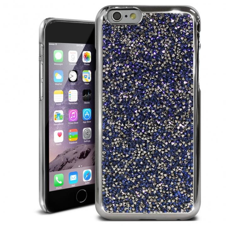 iPhone6s ケース ラインストーンハードケース ELLISIA ネイビー iPhone 6s/6_0